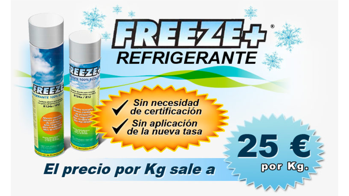 Gas Ecologico Sustituto R 134 a, Freeze+ 750 ML