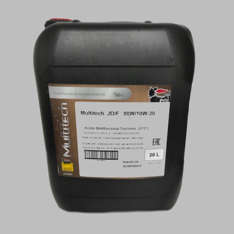 ACEITE, OIL, HUILE, ENI MULTITECH JDF 10W30 80W 20L
