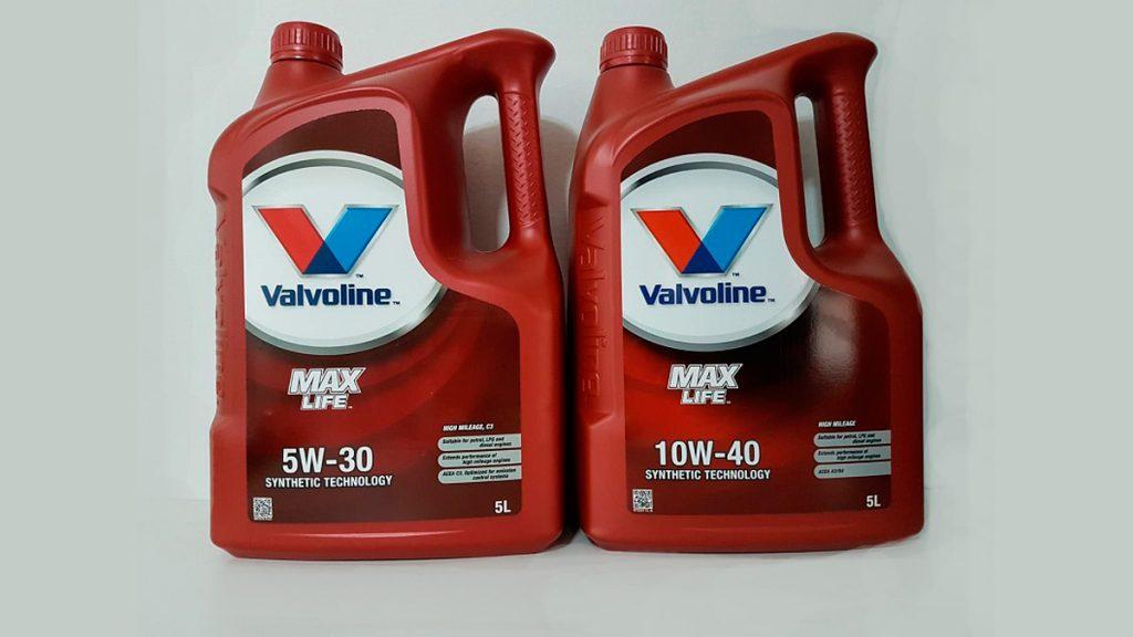Aceite Anticonsumo Maxlife 10W40 - 5W30 Valvoline