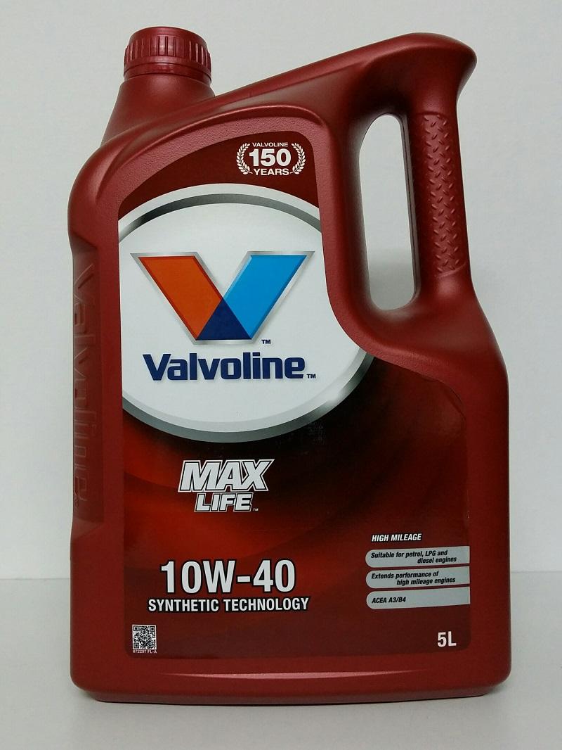 ACEITE 10W40 MAXLIFE VALVOLINE