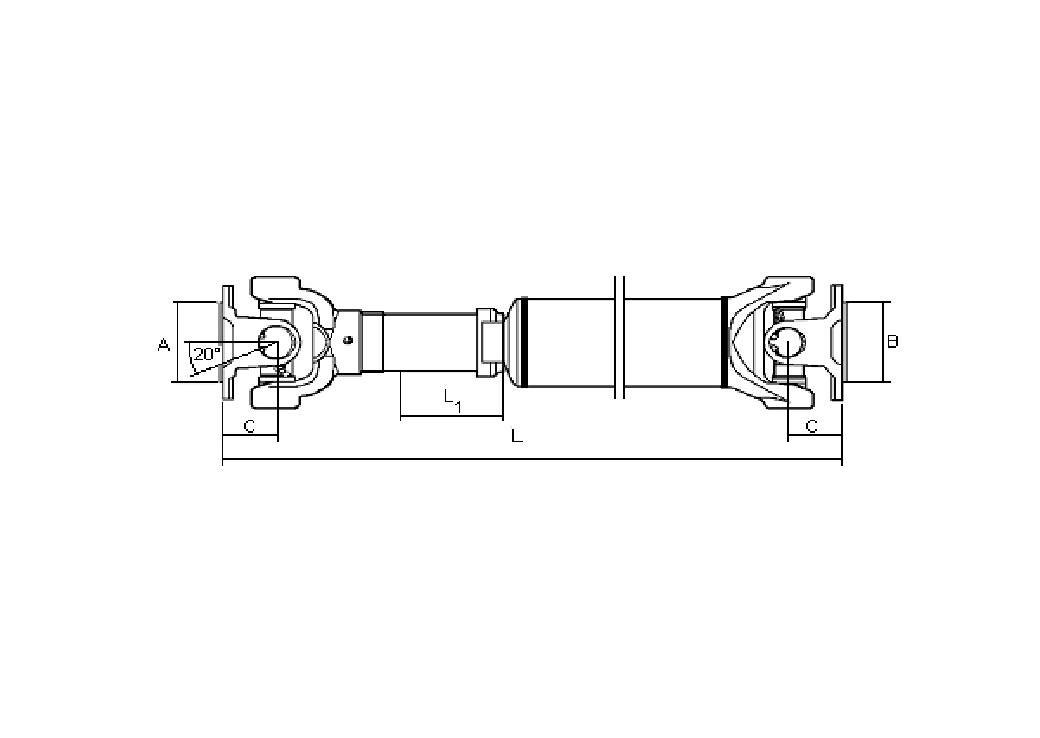 373009X502 TRANSMISION CARDAN ARBRE TRANSMISSION PROPSHAFT NISSAN CABSTAR-