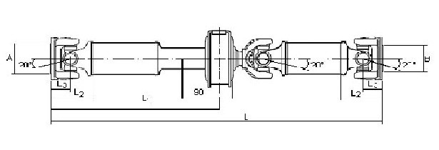 370009X611-TRANSMISION-CARDAN-ARBRE-TRANSMISSION-PROPSHAFT-NISSAN-CABSTAR-
