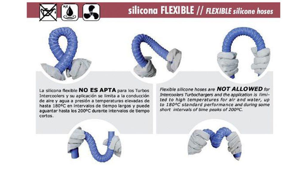 Manguitos de silicona flexibles por medidas