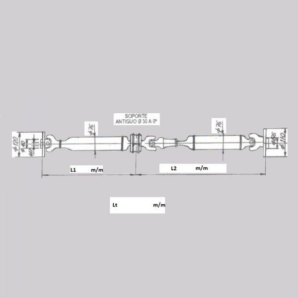 TRANSMISION, CARDAN, ARBRE DE TRANSMISSION, PROPSHAFT, FORD TRANSIT, LONG 2140MM