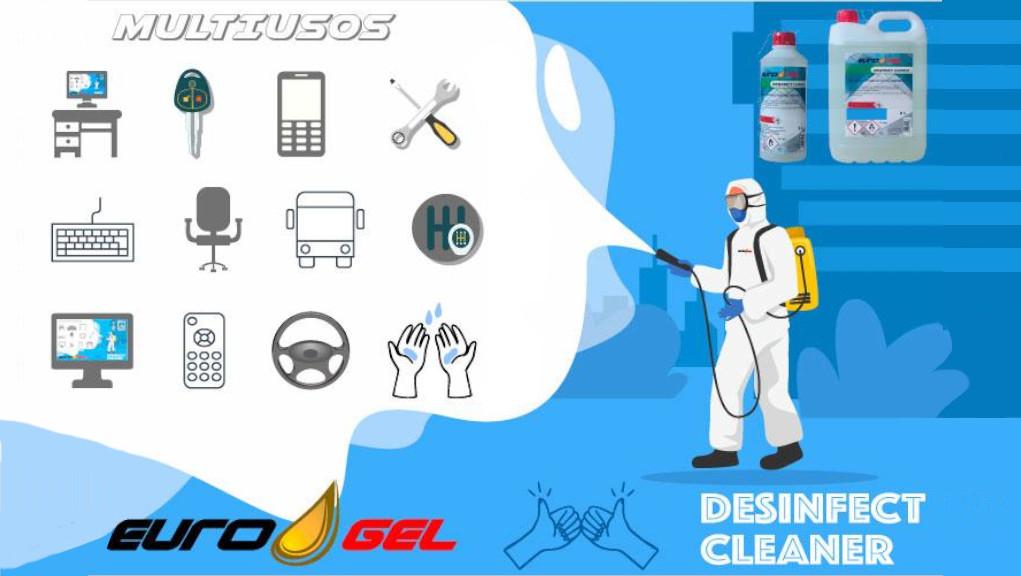 Desinfectante Hidroalcohólico Corporal y Material - DESINFECT CLEANER-